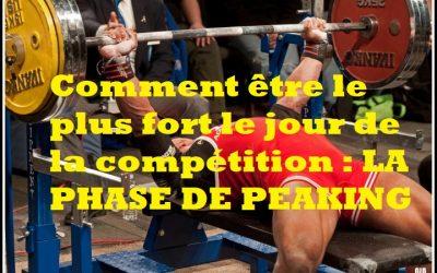Comment être le plus fort le jour de la compétition : la phase de peaking